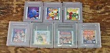 Lot of 7 Nintendo Gameboy Color Games PacMan, Tetris, Golf bugs bunny ring rage