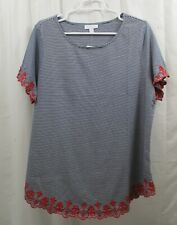 Women's Charter Club Embroidered Shirt  2X  NWT