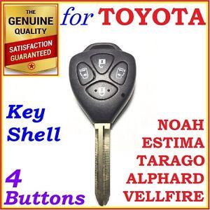For Toyota Tarago Estima Alphard Vellfire Noah, Remote Key Shell /Case 4 Buttons