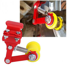 Portable Adjuster ATV Motorcycle Chain Tensioner Bolt On Roller Tool Red+Yellow