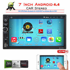 "Android 4.4 7"" Double 2Din Car Radio Stereo MP5 Player GPS Nav OBD BT 3G WiFi TV"