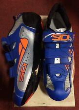 Scarpe bici corsa Sidi Iron strada road bike shoes 41 blu arancio