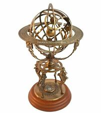 Armillary Dial 18'' Nautical Brass Sphere Armillary Collectible Base Room Decor