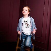 Cool Cat T-Shirt Unisex Short Sleeve Printed T-Shirt Fit Girls Boys Kitten Tee