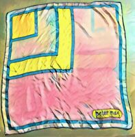 **READY TO FRAME** Vintage 1960s PETER MAX Silk Hand Rolled POP ART Scarf  20x21