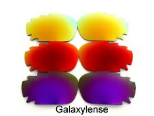 Galaxy Replacement Lenses For Oakley Jawbone Purple&Red&Gold Polarized 3 Pairs