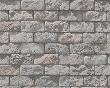 Papier Tapete DEKORA NATUR 6 AS 95834-1 Sandstein Mauer Steine Grau Schwarz