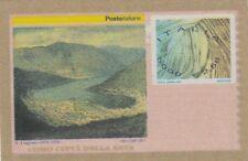 ITALIA  2001 varieta' Como citta seta con SCRITTE SOTTO VEDUTA NON COMPLETE VEDI