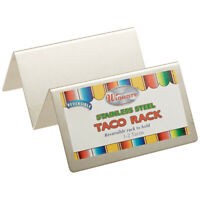 Winco TCHS-12 Stainless Steel Taco Holder for 1 to 2 Tacos