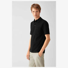 BRAND NEW  HERMES $450 MEN'S CLASSIC POLO SHIRT NOIR BLACK SIZE MEDIUM M