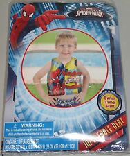 Marvel Ultimate Spider-Man Inflatable Vest Swimming Swim Pool Aid NEW Ages 3+
