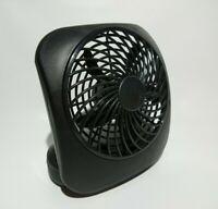Treva 5-Inch Portable Desktop Air Circulation Battery Fan | 2 Cooling Black