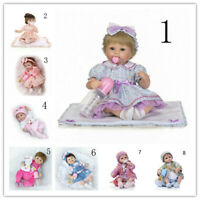 """Hand Knitted Reborn Doll Baby Girl Clothes, for 16''-18"""" Dolls, No Doll Included"""