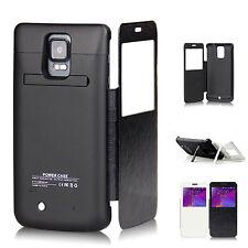 Funda Batería Con Tapa Para Samsung Galaxy Note 4 de 4800mAh en Negro y Blanco