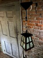 Early Arts & Crafts Mission Porch Light Pendant Fixture Restored