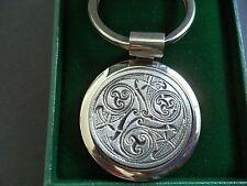 Mullingar Pewter key ring fob Irish celtic spiral steel strong Ireland gift