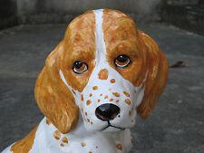 Hund aus Keramik, Hundefigur, handgefertigte Tierfigur 37 cm hoch, Dekofigur