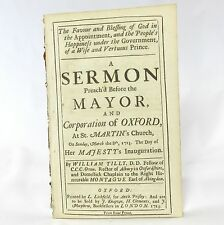 SERMON The Favour and Blessing of God by WILLIAM TILLY