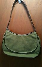 Crazy Horse Sage Green Handbag w/Leather Strap Front Pocket