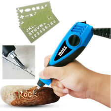 Moss Mini Electric Engraver + Stencils For Etching Wood Metal Glass Plastic