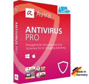 Avira Antivirus Pro 2021|1, 3 oder 5 Geräte|1 Jahr|Aktivierungscode per Post
