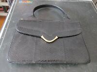 Femme Sac Sac à Main à la Main Noir Vintage Sac à Main