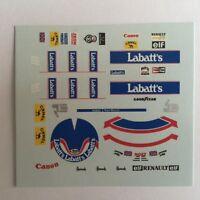 DECALS KIT 1/18 FIGURA + CASCO NIGEL MANSELL WILLIAMS F1 WORLD CHAMPIONS