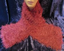Super Fur Hand Knitted Fluffy Scarf  Rose Pink
