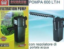 FILTRO INTERNO PER ACQUARIO CON POMPA DA 600 LT/H