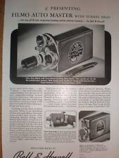 Bell & Howell Filmo Auto Master Turret camera ad 1940
