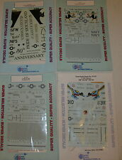 Lot of 4 1/32 Super Scale Decal Sheets F-16C/N 32-140 -134 -133 -221