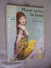 CESARE MEANO - MARE SOTTO LA LUNA - 1938 - ROMANZO DI NOVELLA-SM55