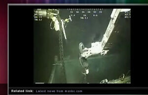 Deep Sea Robot Arm seen in BP Gulf Oil Spill Video feed