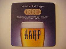 2013 Beer Coaster ~*~ Guinness Brewery Harp Lager Liquid Gold ~ Dundalk, IRELAND