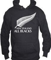 fm10 felpa cappuccio uomo ALL BLACKS rugby Nuova Zelanda SPORT