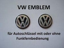 1 Stück 14mm VW schwarz 3D Schlüssel Emblem Funkschlüssel Logo Polo Sharan Vento
