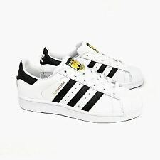 Adidas Unisex Juniors Classic Superstar Trainers White Blue/White Black/White