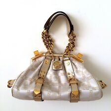 Versace White And Gold Bag With Handles