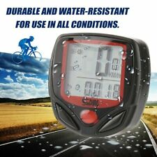 Bike Speedometer Computer LCD Digital Waterproof Bicycle Odometer Cycling Cycle