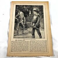 Authentic Antique Chatterbox Magazine Engraving On Paper - 1880-1920's Old D
