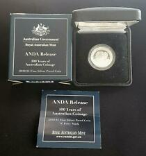 "2010 ANDA 100 YEARS of  AUSTRALIAN Coinage $1 SILVER PROOF COIN ""S"" PRIVY MARK"