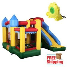 Castle Bounce House With Blower Kid Heavy Duty Inflatable Jumper Slide Moonwalk