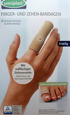 4 Sensiplast Fingerbandage Zehenbandage Fingerverband Zehenverband Fingerschutz