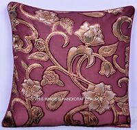 "16"" INDIAN TOSS PILLOW CUSHION THROW COVER VELVET Ethnic Indian Decorative Art"