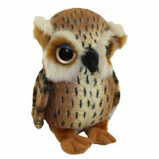 Adventure Planet Plush - Printed Great Horned Owl ( 8 inch ) -New Stuffed Animal