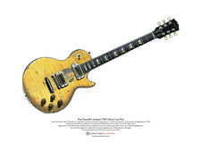 Paul Kossoff's Stripped Gibson Les Paul ART POSTER A3 size