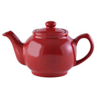 Price & Kensington Brights Red Porcelain 2 Cup Teapot Pottery Kitchen Tea Pot