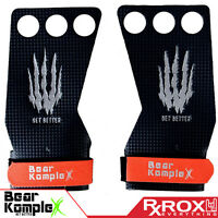 Bear KompleX Carbon Comp Grips   3 Hole   CrossFit Pull-up Gym Gloves