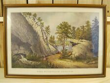 Vintage Currier & Ives Print THE MOUNTAIN SPRING Framed in Great condition