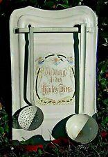 Schönes antikes Kellenblech, Löffelhalter aus Emaille; ca. 1910!